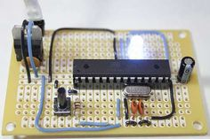 Perfboard Hackduino Arduino compatible circuit, from Instructables