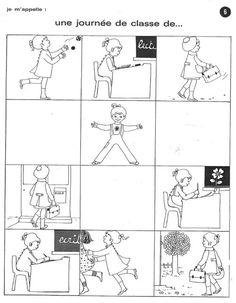 """Images séquentielles """"Une journée d'école"""" (6 images)"""