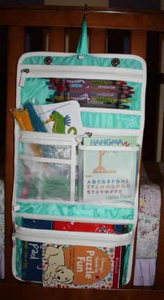 Perfect for keeping kids things organized on an airplane or road trip