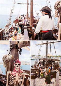 Fun family activities on Oahu. Hawaii pirate ship family adventures. www.hilittlebird.com