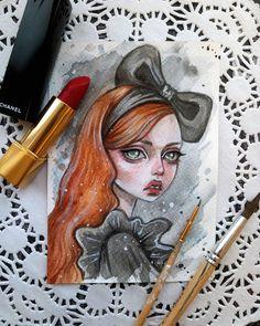Little fashionista #art #illustration #postcard #watercolor #etsy #sale #girl #fashion #fashionista #blackfury #art #illustration #postcard #watercolor #etsy #sale #girl #fashion #fashionista #blackfury