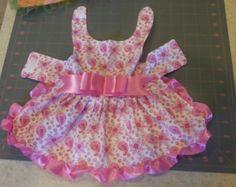 Pink, Purple or Turquoise Paisley Dog Dress, sizes XXS, XS, Small and Medium