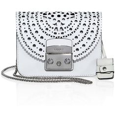 Furla Metropolis Bolero Mini Leather Crossbody Bag (1,525 ILS) ❤ liked on Polyvore featuring bags, handbags, shoulder bags, apparel & accessories, chalk, chain shoulder bag, mini shoulder bag, leather crossbody purses, leather purses and leather handbags