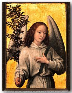Hans Memling (c.1430-1494) – Angel Holding an Olive Branch. Musée du Louvre, Paris.