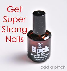 Rock Hard and Top Coat- this is what I use and it is the best ever! You want strong long nails? Get this stuff @ Sally's