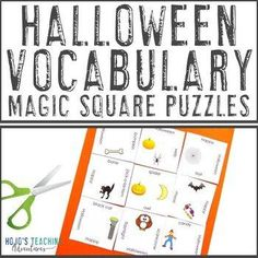 FREE Halloween Center Game | 1st, 2nd, 3rd, 4th, 5th grade, Activities, Fun Stuff, Games, Halloween, Holidays/Seasonal, Homeschool Halloween Vocabulary, Reading Recovery, Ell Students, Magic Squares, Critical Thinking Skills, Special Education Teacher, Hands On Activities, Vocabulary Words, Math Centers