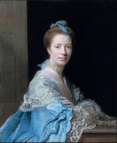 Allan Ramsay ~Portrait of Jean Abercromby, Mrs George Morison of Haddo ~ 1767