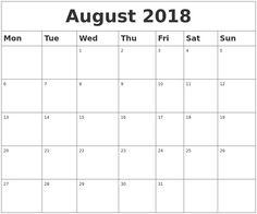 august 2018 monthly calendar desk calendar australia 2018 holiday calendar 2018 calendar excel