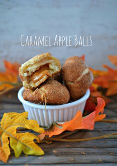 Easy Caramel Apple Balls - This is a great flavor combination if you are looking for an apple and caramel recipe.