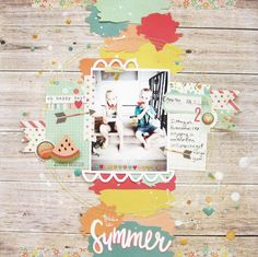 https://flic.kr/p/vbu1ni | this is summer | I used Simple Stories Summer Vibes and cut files from the JustNick shop.   Layout by Audrey Yeager   http://audreysreflection.blogspot.com  http://myscrapsandmore.com
