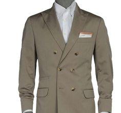 Brunello Cucinelli Chevron Suit With Peak Lapels