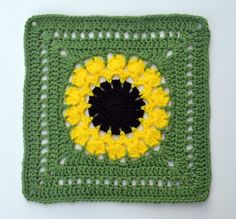 "Ravelry: Project Gallery for Flower Burst Square pattern (12"") by Chris Simon. This one by JustAddGlitter here: http://www.ravelry.com/projects/JustAddGlitter/flower-burst-square"