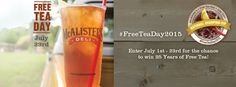 FREE 32-ounce glass of McAlister's Famous Sweet Tea | Get FREE Samples by Mail | Free Stuff