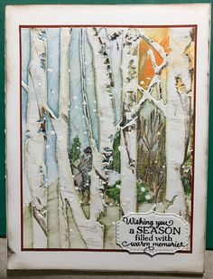 Made just to try a technique of stamping inking on an embossing folder BEFORE embossing the paper I inked the background colors direct from pad to folder then added the stamped image over the bg colors and quickly embossed the card panel I hand colored th Fall Cards, Winter Cards, Christmas Cards, Masculine Birthday Cards, Masculine Cards, Tim Holtz, Nautical Cards, Embossed Cards, Thanksgiving Cards