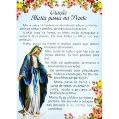 2564 - Postal - Oração Maria Passa Na Frente - Paz e Bem - Pacote com 25 Unidades