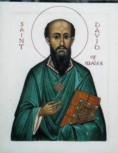 St David of Wales. St. David's Day is March 1st. Many Welsh people wear one or both of the national emblems of Wales on their lapel to celebrate St. David: the daffodil (a generic Welsh symbol which is in season during March) or the leek (Saint David's personal symbol) on this day.