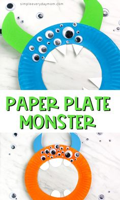 Monster Craft For Kids Monster Craft For Kids ,Crafts For Kids If you're searching for an easy kids craft for boys and girls this paper plate monster craft is perfect! It's quick, fun and. Easy Crafts For Kids, Toddler Crafts, Diy For Kids, Kids Fun, Summer Kid Crafts, Boy Diy Crafts, Boy Craft, Halloween Crafts For Toddlers, Craft Kids