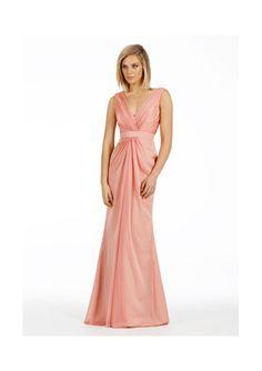 High quality 2015 Zipper V-neck Sleeveless Salmon Chiffon Floor Length Bridesmaid / Prom Dresses By JLM 5472 from Formalgirldresses.com Online Shop!
