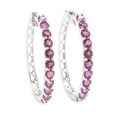 Sterling Silver 6.50cttw Berry Topaz Hoop Earrings V3 Jewelry http://www.amazon.com/dp/B019DW55ZK/ref=cm_sw_r_pi_dp_y7yCwb1Q96GJG