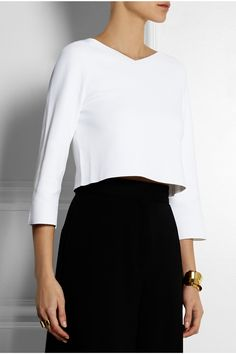 Stella McCartney | Cropped stretch-jersey top | NET-A-PORTER.COM