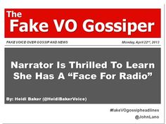 Fake Voice Over Gossip and News Monday, April 2013 Gossip, The Voice, News