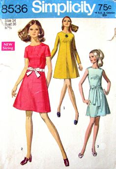 Summer Mood- The dress Vintage Summer Dresses, Dress Vintage, Summer Dress Patterns, Lemon Print, Mini Dress With Sleeves, Simplicity Patterns, Swing Dress, Stylish, Size 14