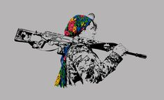 Freedom Fighter by on DeviantArt – Nicewords Kurdistan, Azadi Tattoo, Women Freedom Fighters, Small Girly Tattoos, Pin Up Posters, Political Art, Political Tattoo, Female Fighter, Galaxy Painting