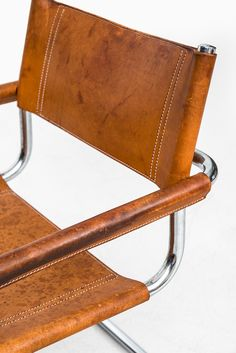 Mart Stam armchairs by Fasem at Studio Schalling Mart Stam, Sell Items, Armchairs, Brown Leather, Italy, Studio, Bolognese, Furniture, Mid Century