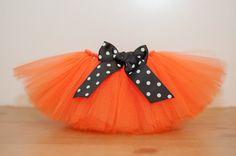 Orange Pumpkin tutu 'Kathy' newborn Halloween by thePhotoPunks