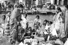 Devotees performing rituals at Haridwar. by narsitec