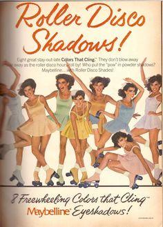 1980 Maybelline Roller Disco Skating Print Advertisement Ad Vintage VTG 80s | eBay