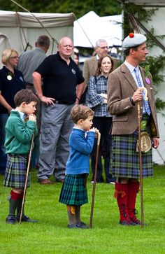 Inveraray Highland Games Duke of Argyll and sons?