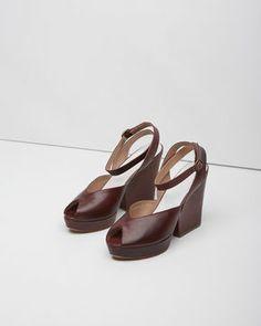Maison Martin Margiela Line 22  Ankle-Strap Peep Toe Wedge
