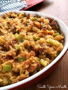Southern Cornbread Dressing with Sausage