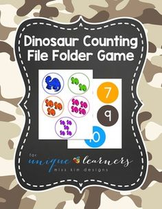 Designed for children 3-5 years old with a need for structured learning task, my Dinosaur Counting File Folder Game is the beginning of teaching numbers and counting. I'm at the point where I'm ready to start introducing the concepts of counting and numbers to my students, but they're still really struggling with learning new skills and slowing down enough to let me teach the new skills.