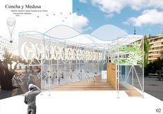 Cinco proyectos preseleccionados para un punto de información para San Sebastián 2016