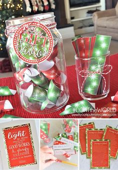 #LIGHTtheWORLD Printables, freebies! Our Gift to the Savior SERVICE JAR #mycomputerismycanvas