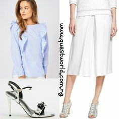 White Christmas 🛍 Top size 8 10 12 #7500 Culottes size 10 12 #5000 Heels size 39 40 41 #8000 www.questworld.com.ng Nationwide Delivery Pay on delivery in lagos