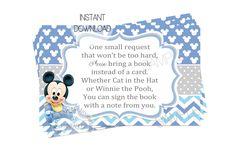 partyexpressinvitations - Baby Mickey Book Request Card Baby Shower, $4.00 (http://www.partyexpressinvitations.com/baby-mickey-book-request-card-baby-shower/)