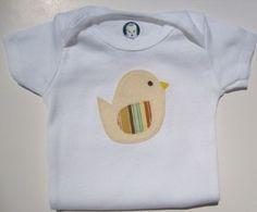 Infant Onesie with Chick applique - Unique Baby...