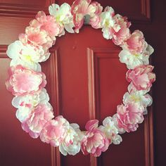 From Mrs. to Mama: April DIY Craft of the Month; Spring Wreath