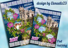 """Календарь на 2017 год с рамкой для фото """"Ласточкино гнездо"""""""
