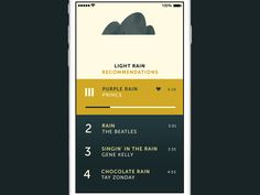 So this is a simple music player that determines a playlist from tracks on your phone dependent on the weather.