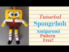 SPONGEBOB AMIGURUMI TUTORIAL! Collab-ami World Of Amigurumi! Free Pattern in Info Box - YouTube