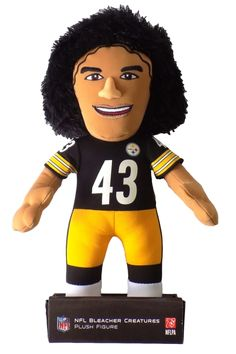 Show your team spirit with the NFL Pittsburgh Steelers Troy Polamalu Plush Figure! The NFL Pittsburgh Steelers Troy Polamalu Plush Figure is a must have for football fans. Bring Troy Polamalu to your home field! Troy Polamalu, Pittsburgh Steelers Players, Football Fans, Toys R Us Games, Football Memorabilia, Steeler Nation, Plush Dolls, Creatures, Sports