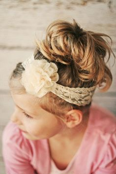 Flower Headbands for Girls Lace Headband by PBlossomBoutique, $18.00