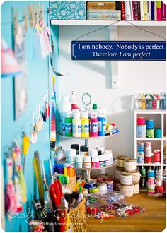 Craft room by Craft & Creativity, via Flickr