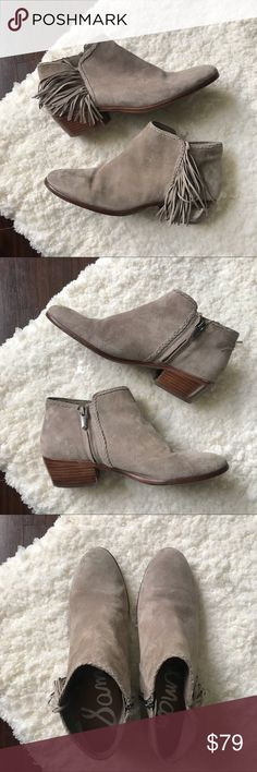 dee88b1adb34 EUC | Sam Edelman Suede Fringe Paige Booties Excellent used condition with  no stains or tears