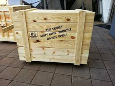 Indiana Jones Raiders of the Lost Ark replica crates , and we are selling them. Indiana Jones Halloween, Grown Up Parties, Secret Storage, Halloween Displays, Crate Storage, Wooden Furniture, Furniture Ideas, Movie Props, Wooden Crates