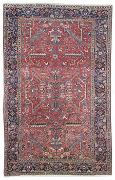 Antique Heriz Rug    Hand-knotted in Persia  Circa 1940
